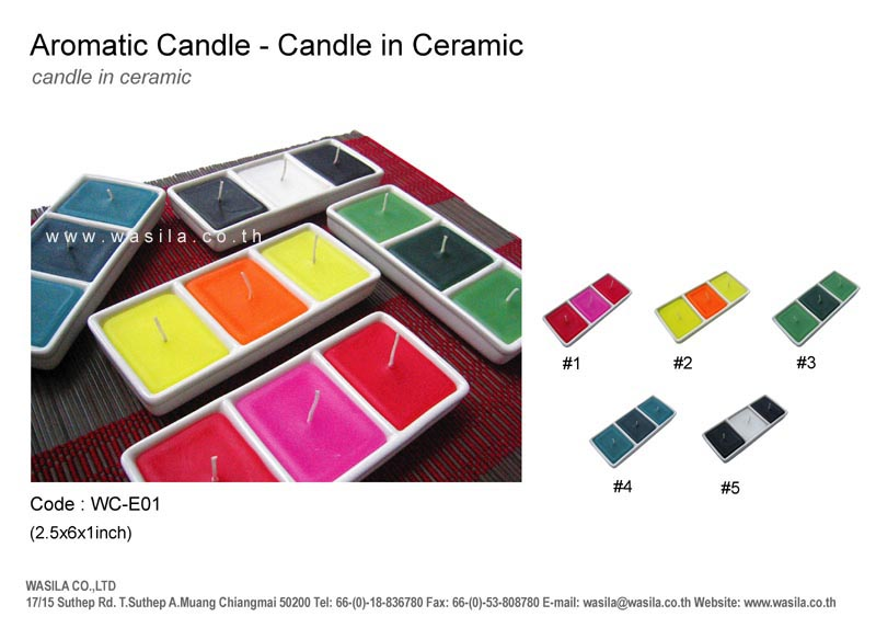 WASILA - Thailand Candle Incense - Manufacturers, Suppliers